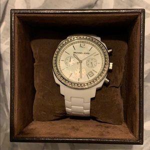 Ceramic white authentic Michael Kors Watch